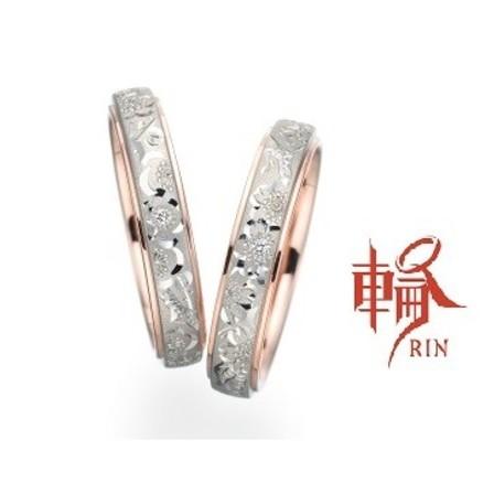 繊細な細身手彫りリング~桜子・小梅~のサムネイル