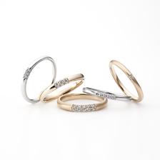 ラザールダイヤモンド Fairy「Three Side Ring」(フェアリースリーサイドリング)