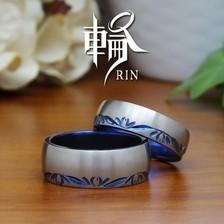 【輪】美しい桜の手彫りチタンリング~スプラウト~