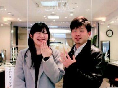 笑顔の素敵なカップルさん