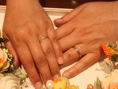 大好きなディズニーの結婚指輪