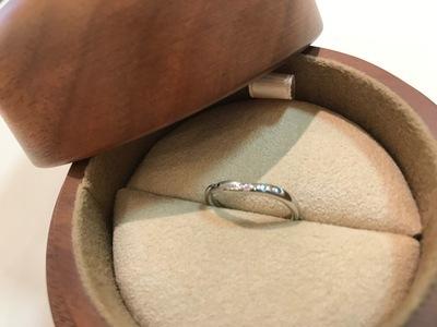 指輪に込めた思い。幸せな家族の証。