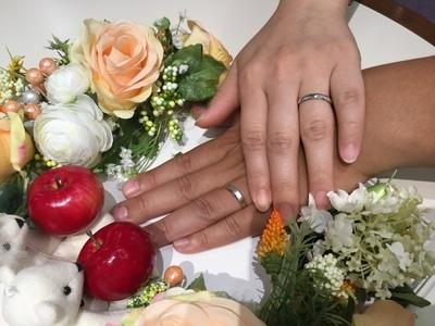 二人でお気に入りの、結婚指輪
