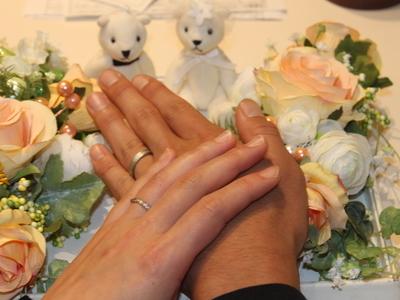 お二人らしい事が素敵な結婚指輪