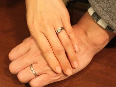 指輪のキレイな仕上がりに感動の涙