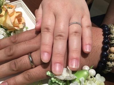 存在感のあるシンプルな指輪