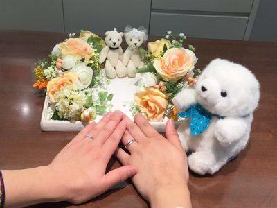 二人の想い満載の結婚指輪