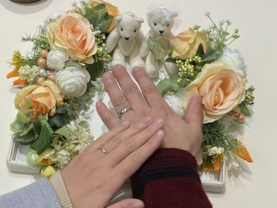 二人らしさ溢れる結婚指輪