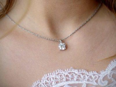 婚約指輪のダイヤモンドをネックレスにリフォーム